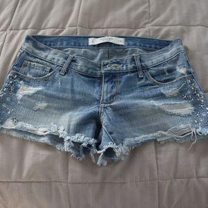 a&f jean shorts